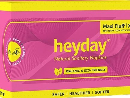 HEYDAY Organic Maxi Fluff Sanitary Pads XL (Pack of 30)