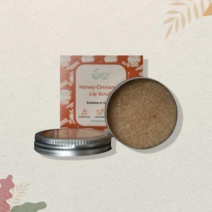 Foy Naturals Honey Cinnamon Lip Scrub (15gm)
