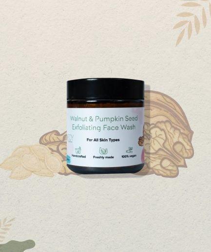 Foy Naturals Walnut & Pumpkin Seed Exfoliating Face Wash (75gm)