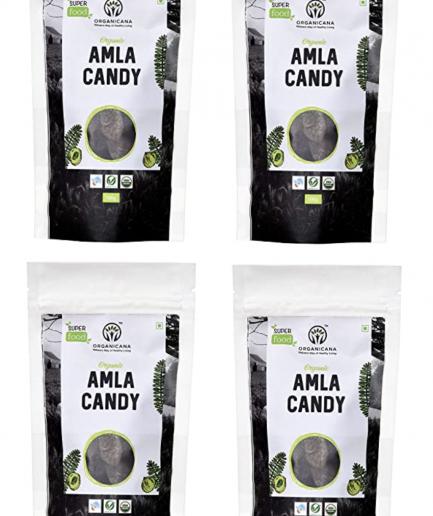 Organicana Organic Dried Sweet Amla Candy (100gm) (Pack of 4) - Vitamin C Rich