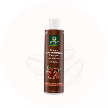 Organic Harvest Hair Strengthening Shampoo - Caffeine (250ml)