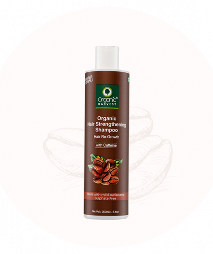 Organic Harvest Hair Strengthening Shampoo - Caffeine (250ml)