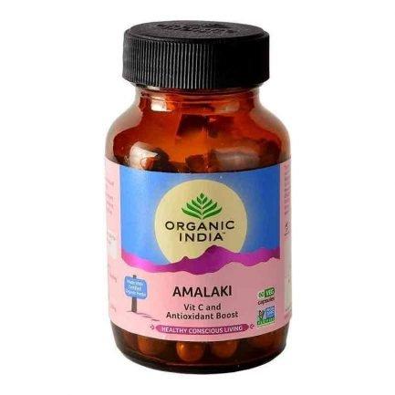 Organic India Amalaki Ayurvedic Capsules - Vitamin C & Antioxidant Boost