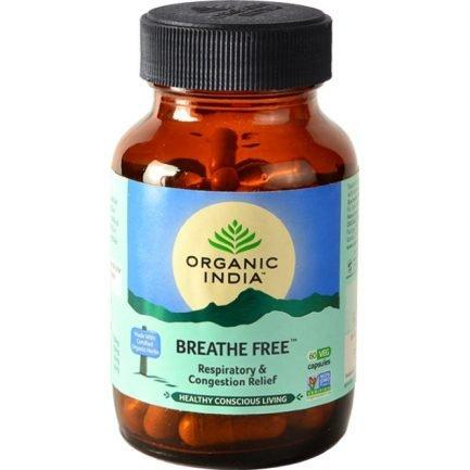 Organic India Breathe Free Capsules - Respiratory & Congestion Relief