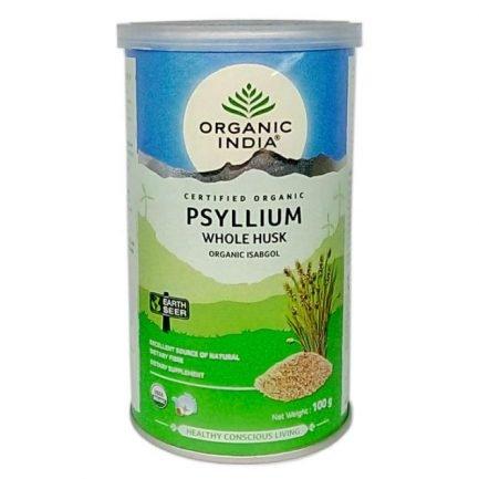 Organic India Whole Husk Psyllium (Organic Isabgol) (100gm)