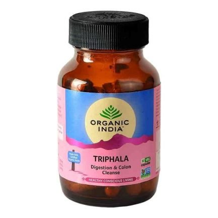 Organic India Triphala Capsules - Digestion & Colon Cleanse