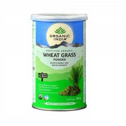 Organic India Wheat Grass Powder - Energy & Immunity Booster