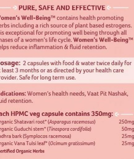 Organic India Women Health Supplement Capsules