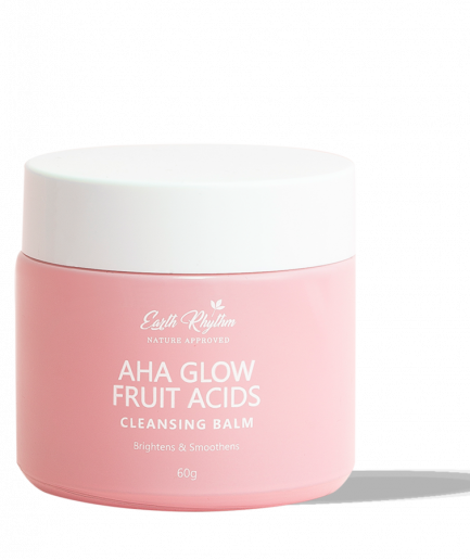 Earth Rhythm Pore Refining Cleansing Balm With Natural Fruit Acids – Ahas (100gm)