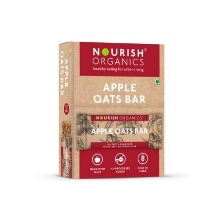 Nourish Organics - Apple Oats Bar (Pack of 6) (180gm)