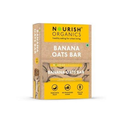 Nourish Organics – Banana Oats Bar (Pack of 6) (180gm)