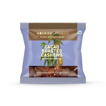 Nourish Organic – Cacao Roasted Cashews (Pack of 4) (140gm)
