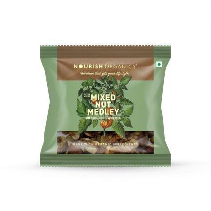 Nourish Organic – Mixed Nut Medley (Pack of 4) (140gm)