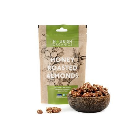 Nourish Organics – Honey Roasted Almonds (100gm)