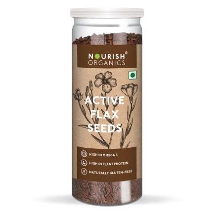 Nourish Organics – Active Flax Seeds (180gm)