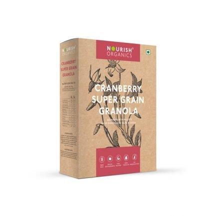 Nourish Organics - Cranberry Super Grain Granola (300gm)