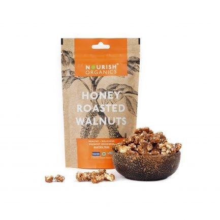 Nourish Organics – Honey Roasted Walnuts (100gm)