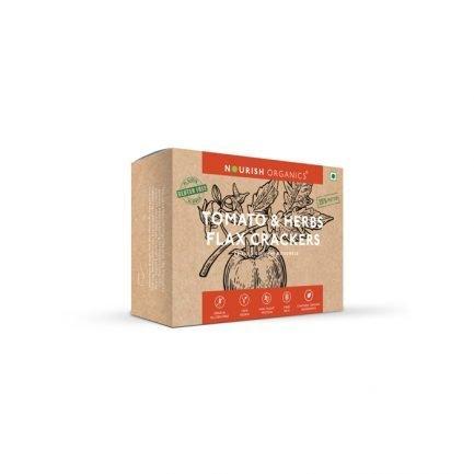 Nourish Organics – Tomato & Herbs Flax Crackers (90gm)