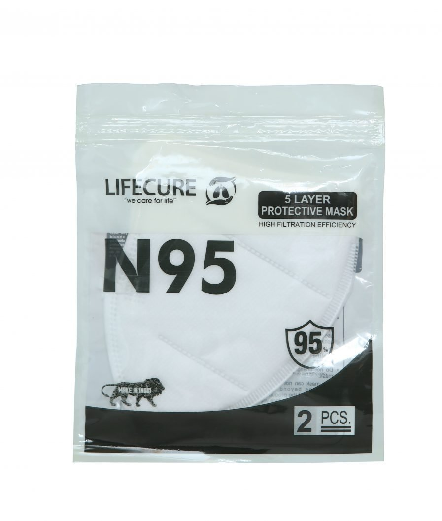 Lifecure N95 Five Layer Protective Mask (Pack of 2)