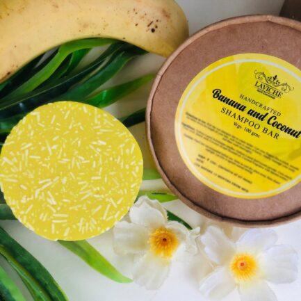 Laviche - Banana and Coconut Shampoo Bar (100gm)
