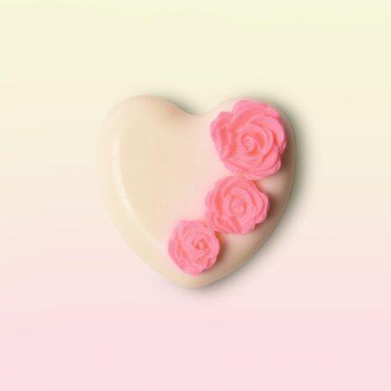 Laviche - White Heart Soap With Roses (100gm)