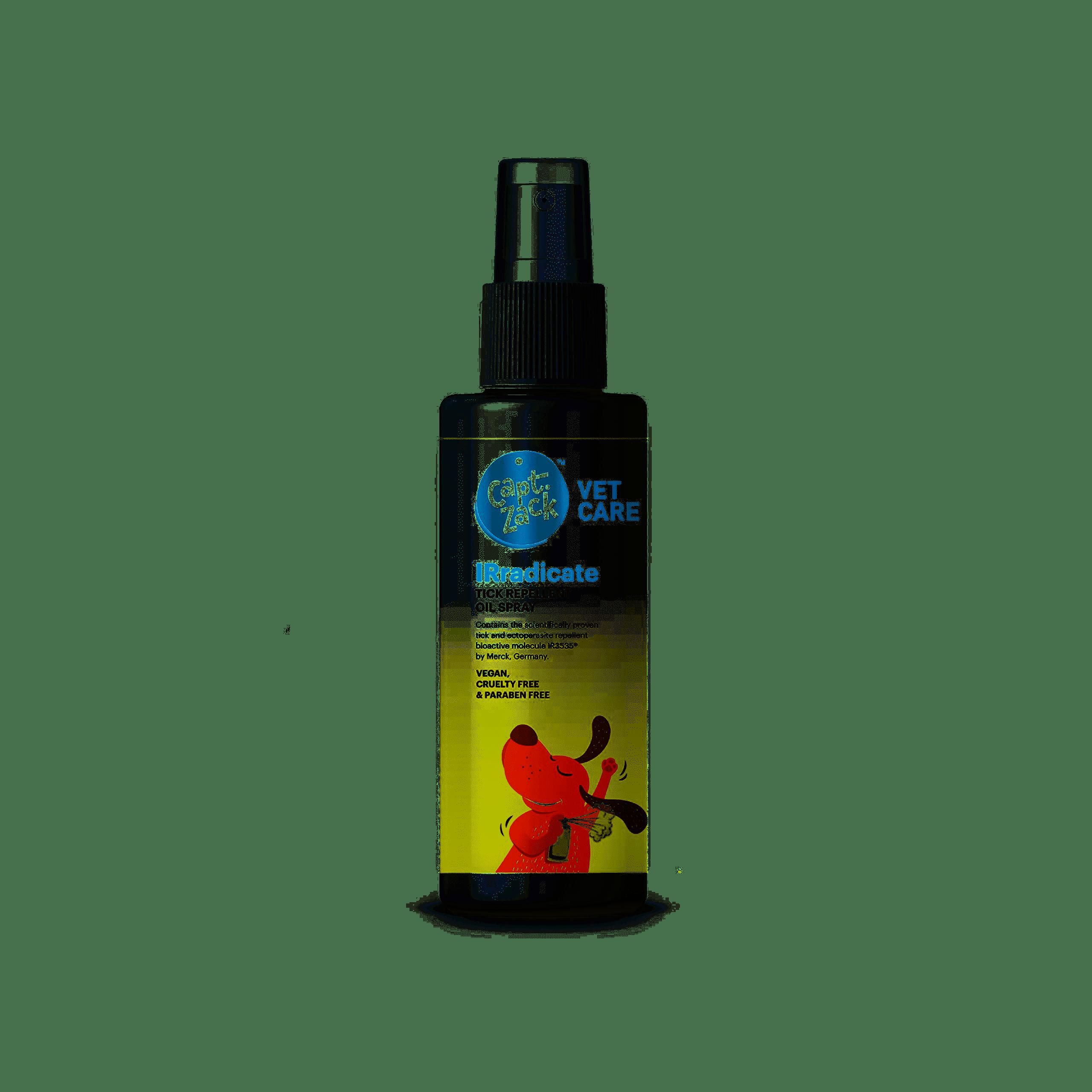 Captain Zack - IRradicate Tick Repellent Oil Spray for Ticks and Fleas (50ml)
